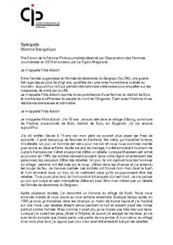 Synopsis-Martina Bacigalupo - FR - ANG